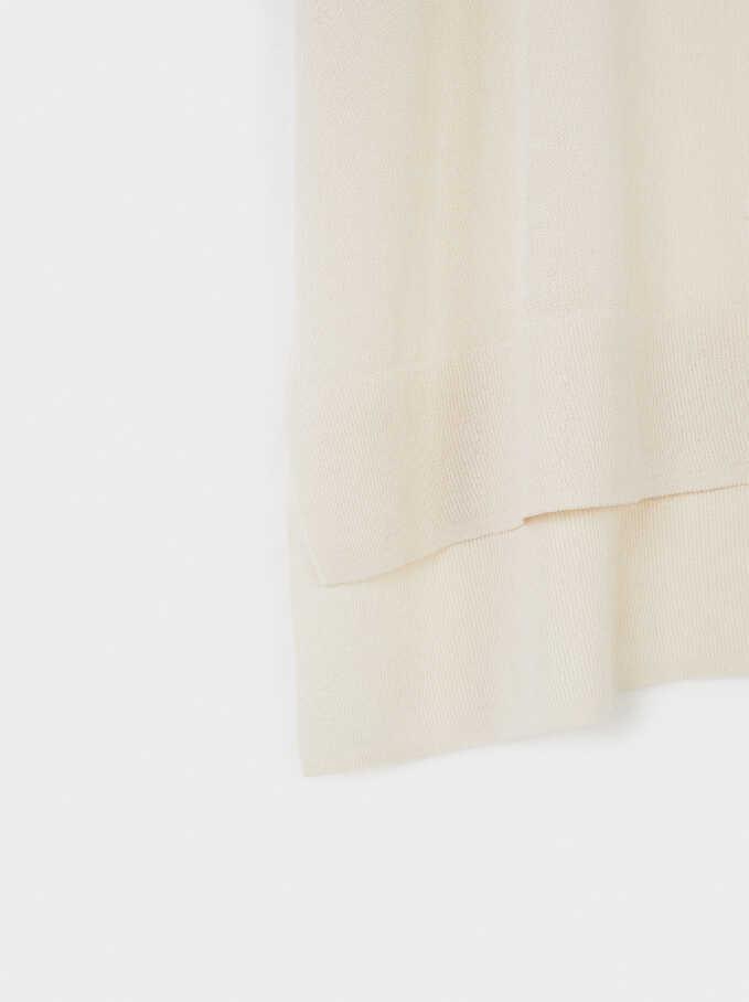 Short Sleeve Knit Top, Ecru, hi-res