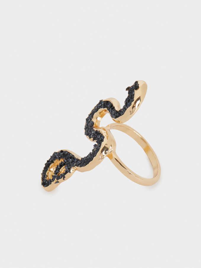 Snake Ring, Blue, hi-res