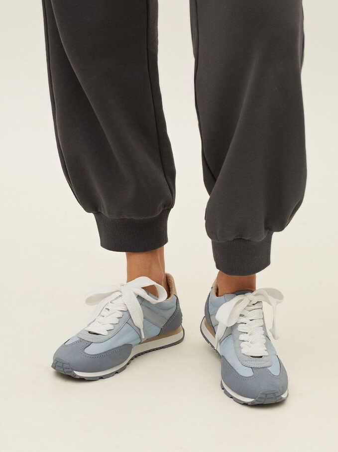 Zapatillas Deportivas Combinadas, Azul, hi-res