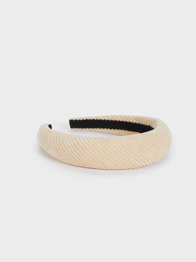 Rigid Headband, Beige, hi-res