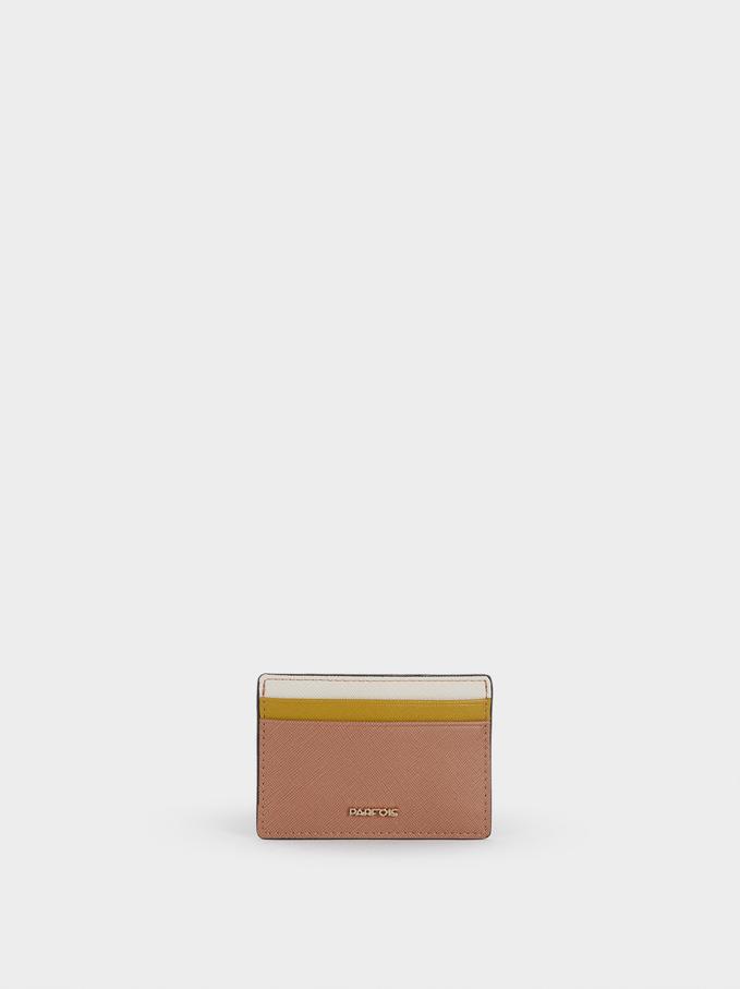 Embossed Card Holder , Pink, hi-res