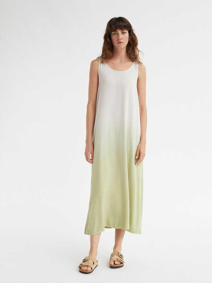 Strap Round Neck Dress, Yellow, hi-res