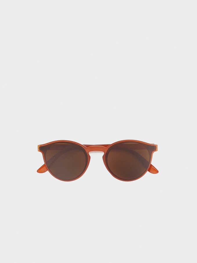 Gafas De Sol Montura Pasta Redondas, Naranja, hi-res