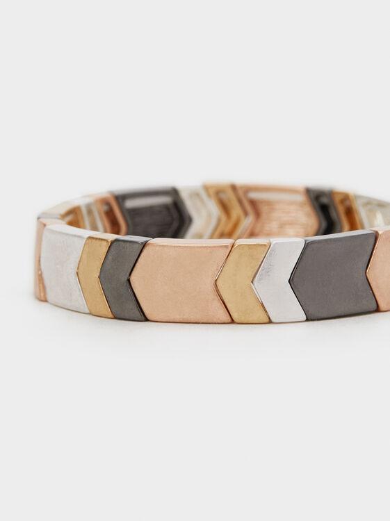 Metallic Shades Elastic Bracelet, Multicolor, hi-res
