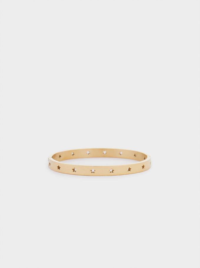 Bracelet En Acier Étoiles, Doré, hi-res
