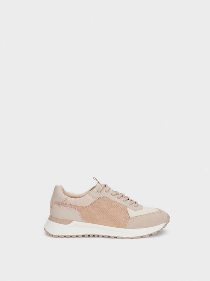 Contrast Sneakers, Pink, hi-res