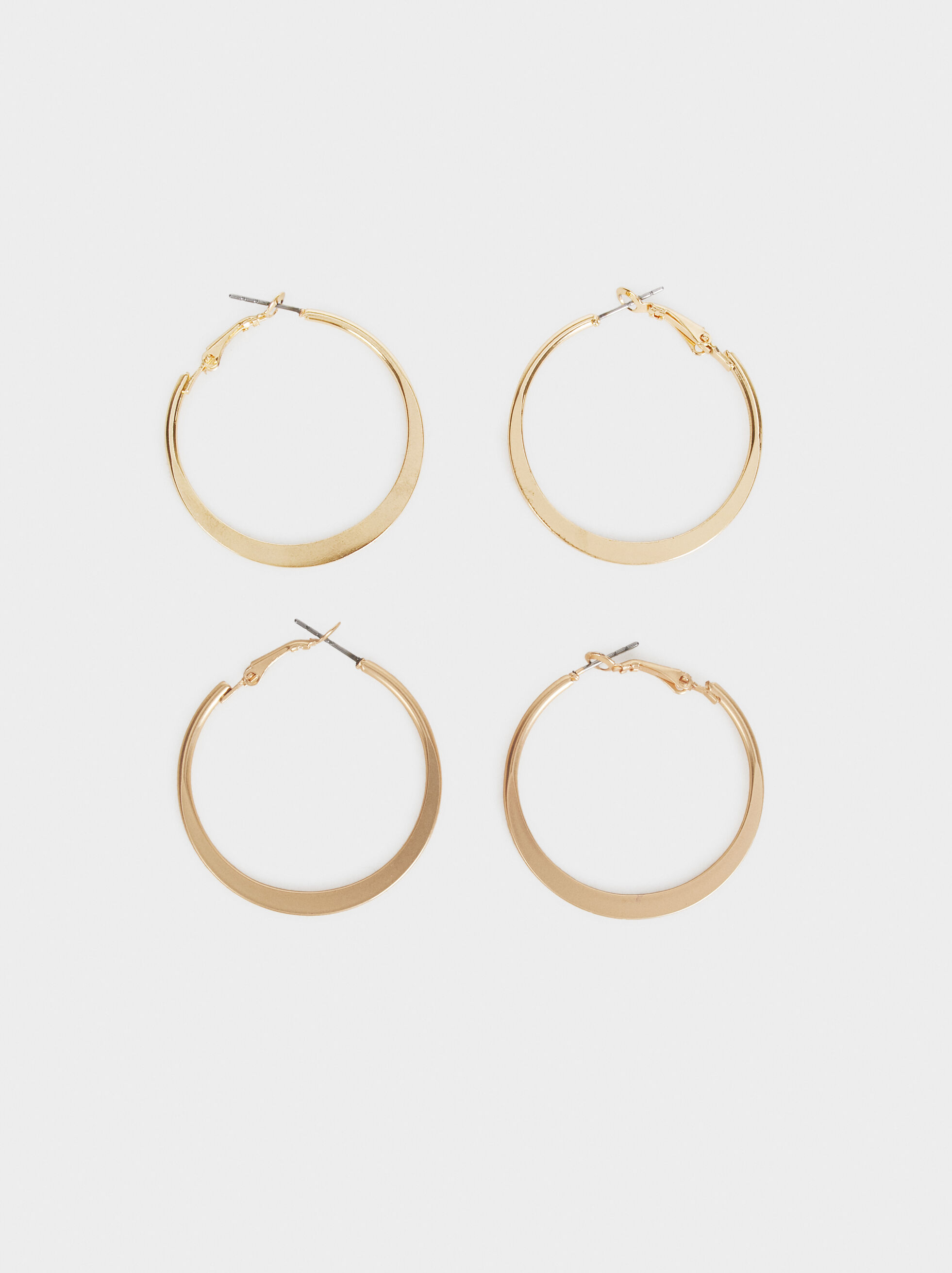 Set Of Basic Medium Hoop Earrings, , hi-res