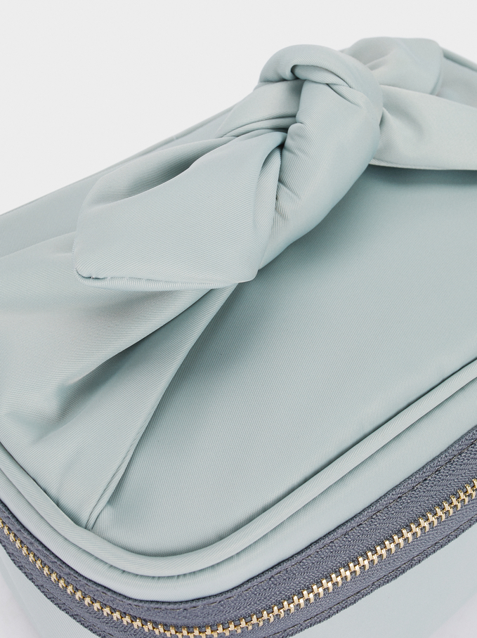 Multi-Use Handbag With Bow Detail, Blue, hi-res