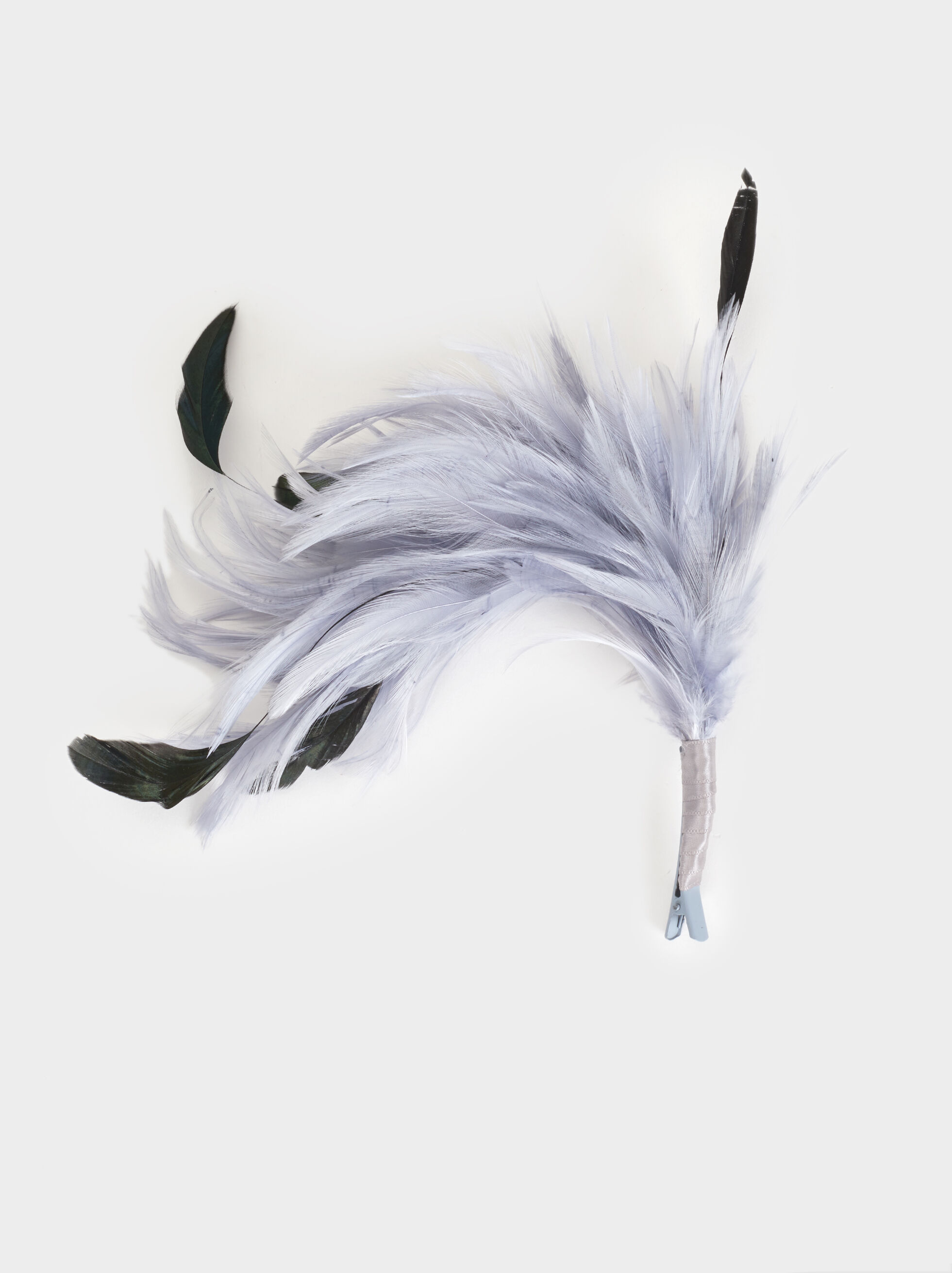 Fascinator With Feathers, Grey, hi-res