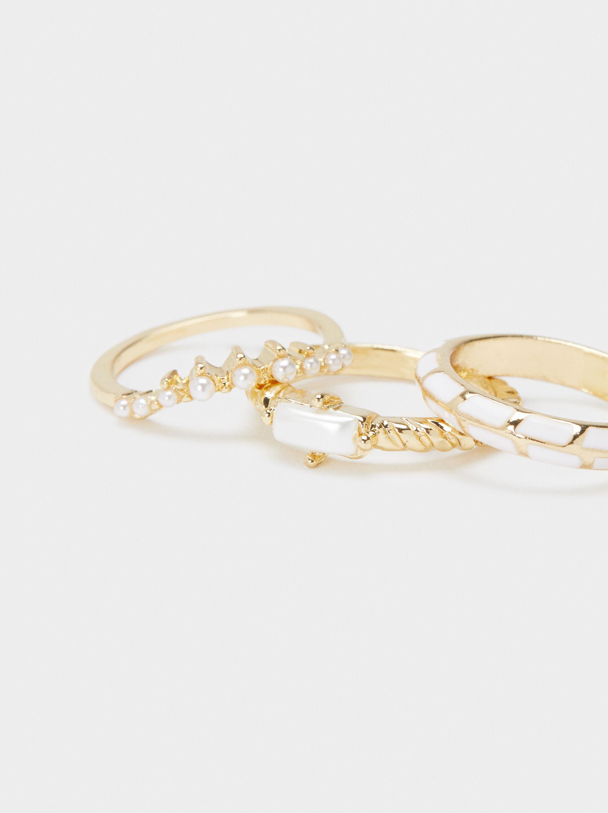 Recife Ring Set, Golden, hi-res