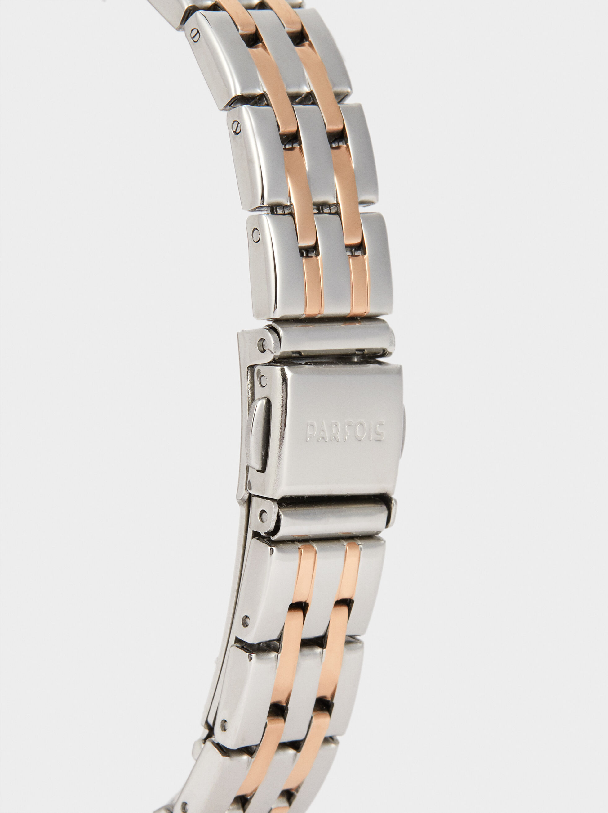 Watch With Stainless Steel Strap , Orange, hi-res