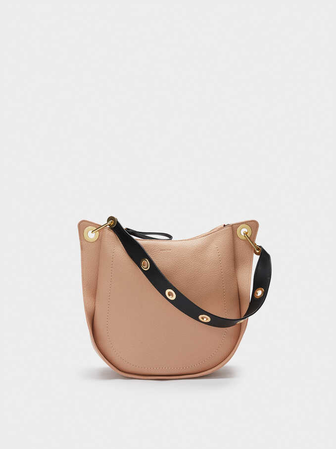 Shoulder Bag With Strap, Beige, hi-res