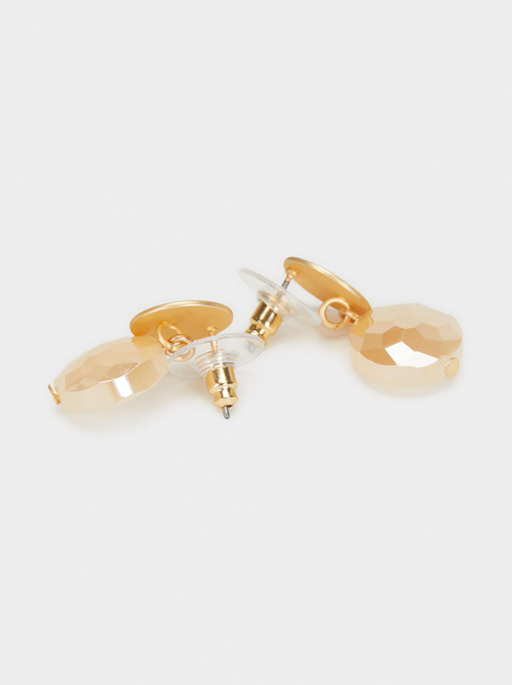Creme Short Dangle Earrings, Multicolor, hi-res