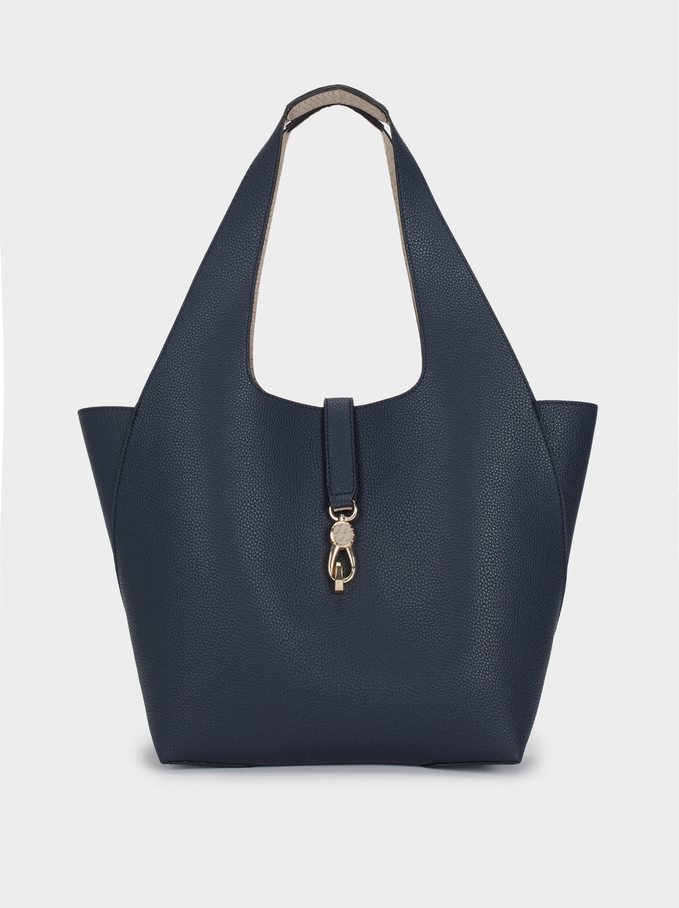 Reversible Handbag, Navy, hi-res
