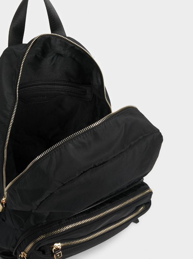 2-In-1 Backpack And Suitcase, Black, hi-res