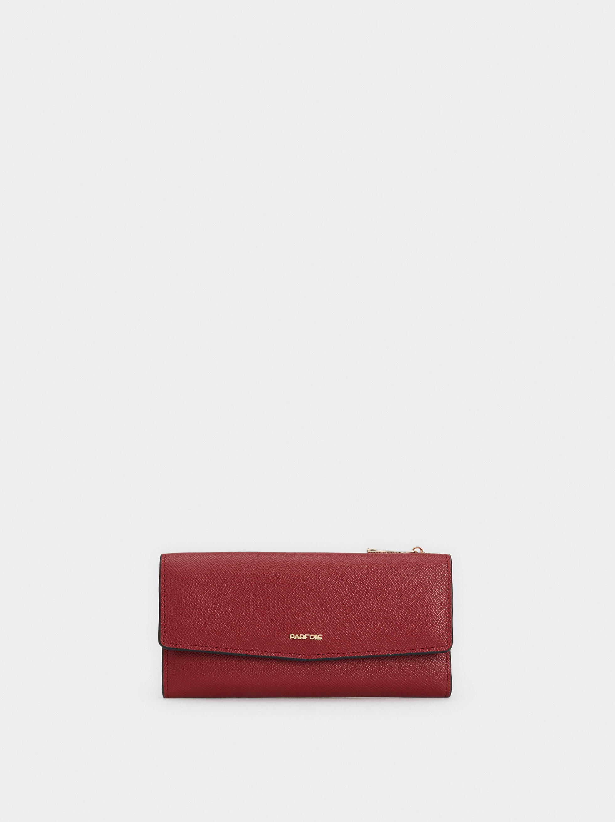Large Purse With Flap, Red, hi-res