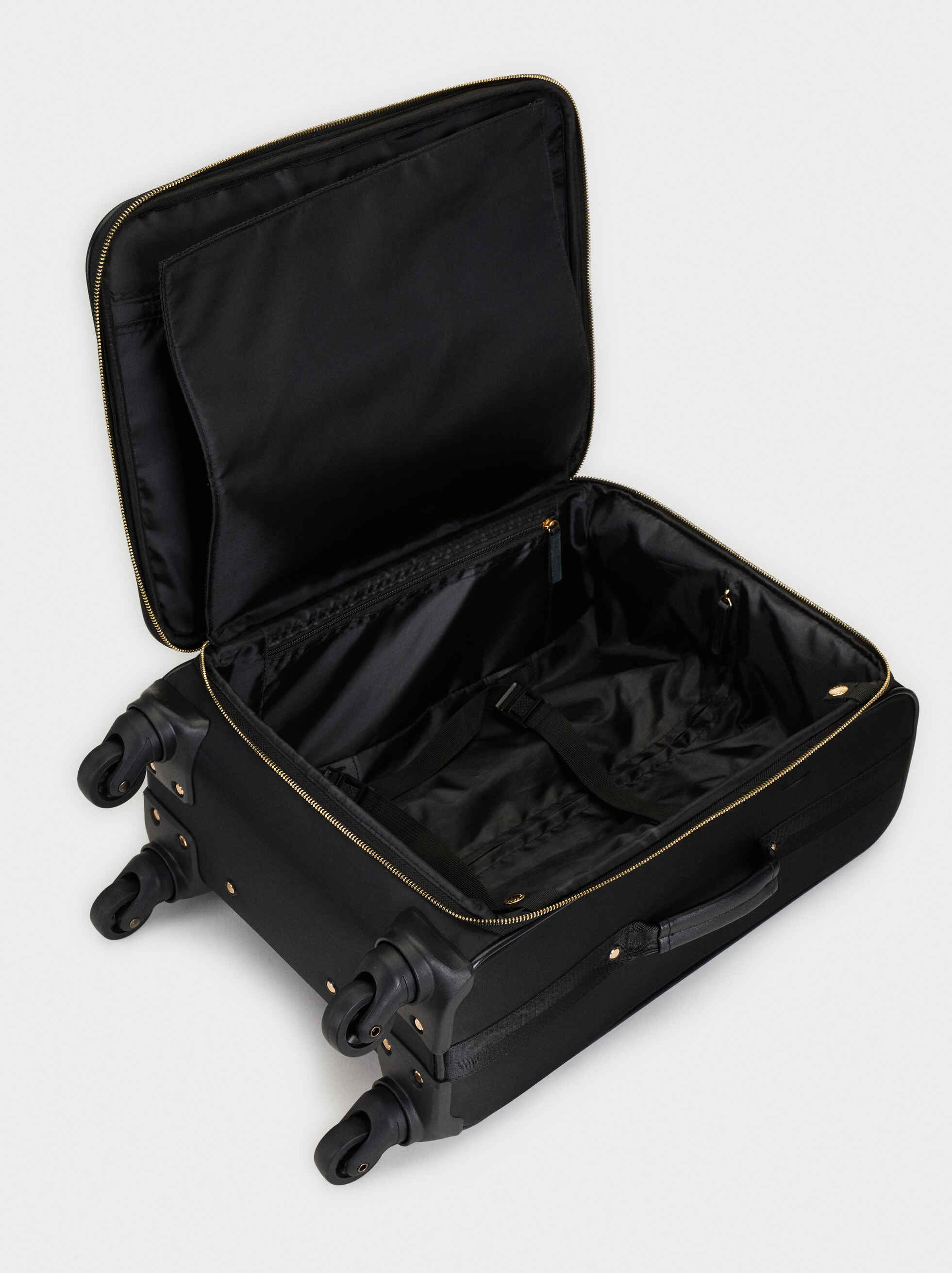 Padded Trolley Case, Black, hi-res