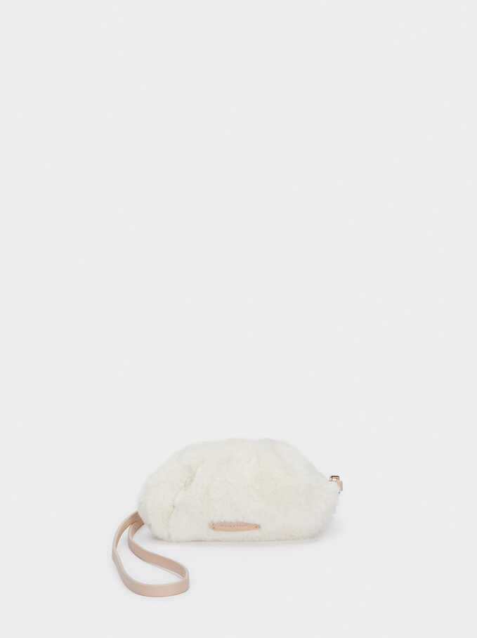 Fake Fur Multi-Purpose Bag, White, hi-res