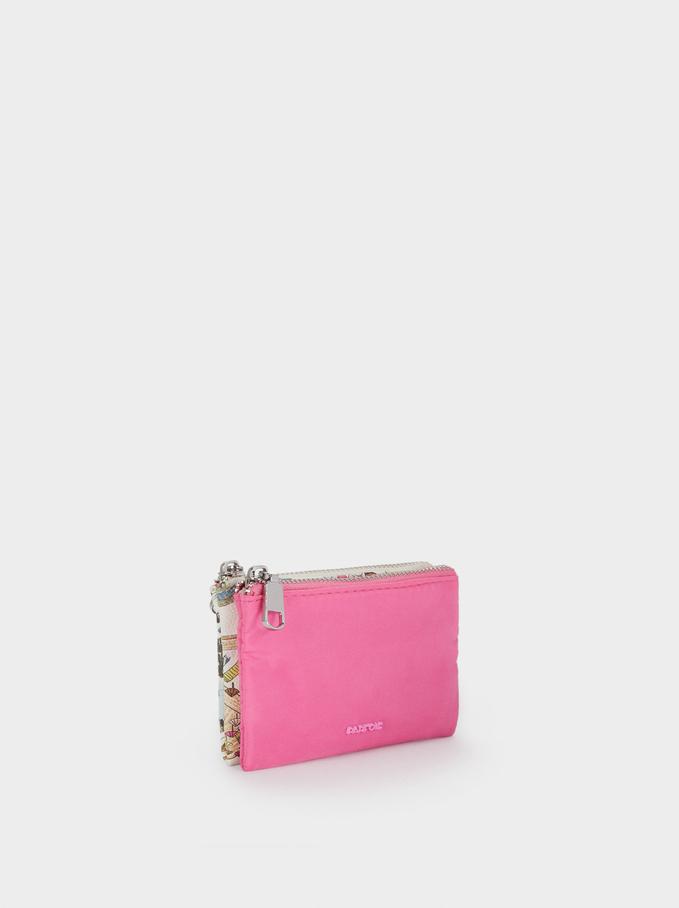 Nylon Plain Multi-Purpose Bag, Pink, hi-res