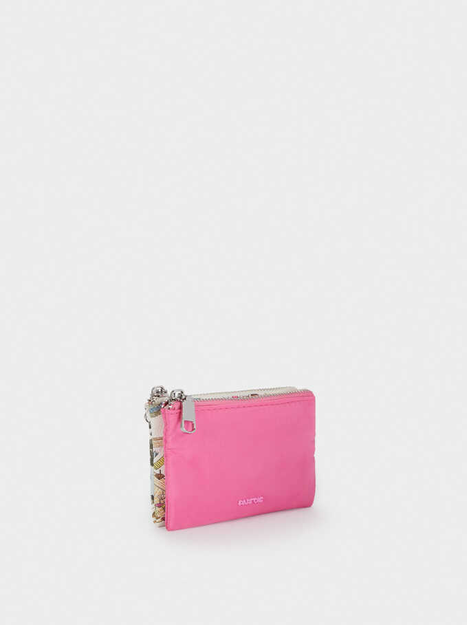 Nylon Plain Multi-Purpose Bag, Pink, hi-res