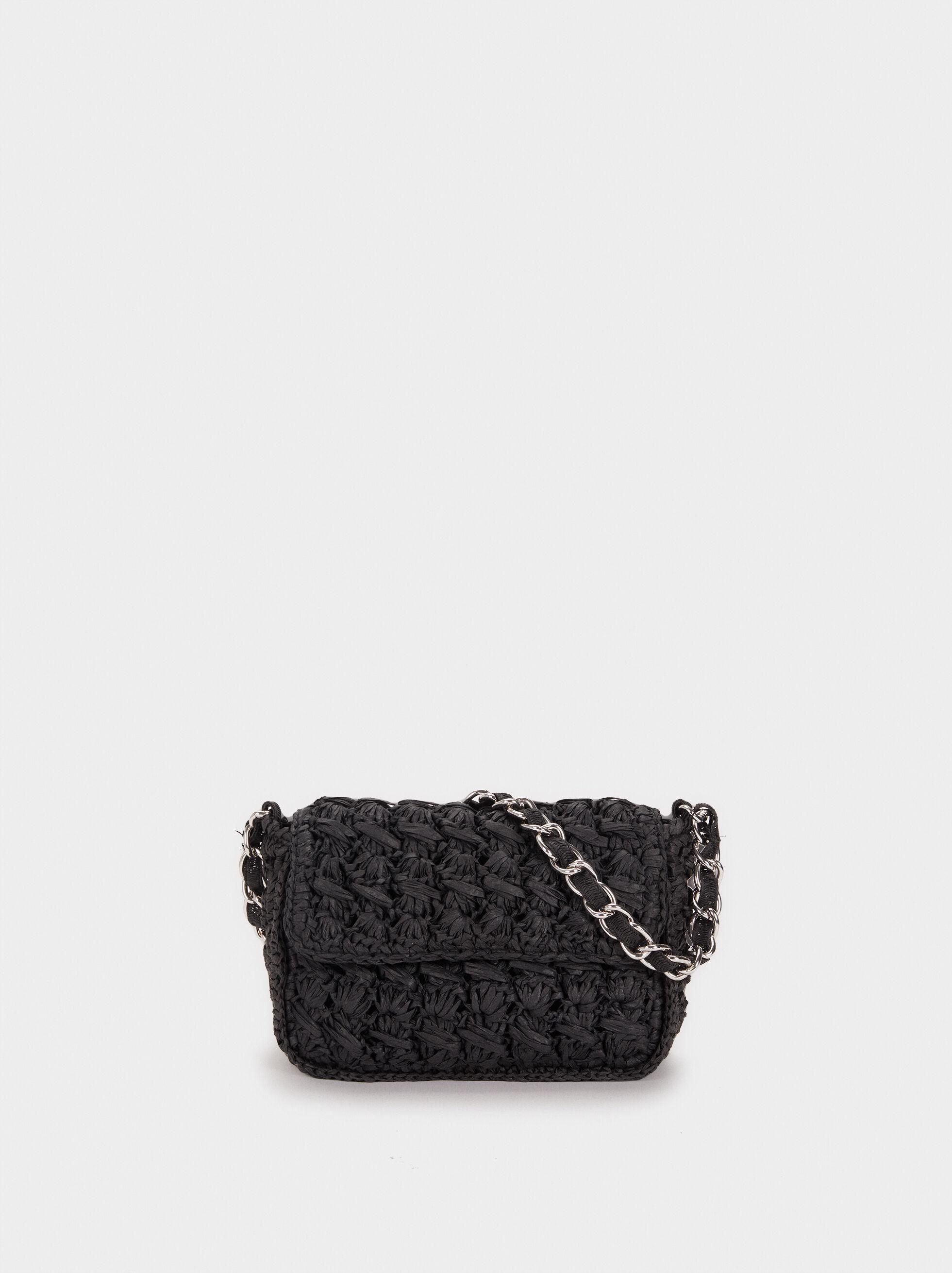 Braided Raffia Crossbody Bag, , hi-res