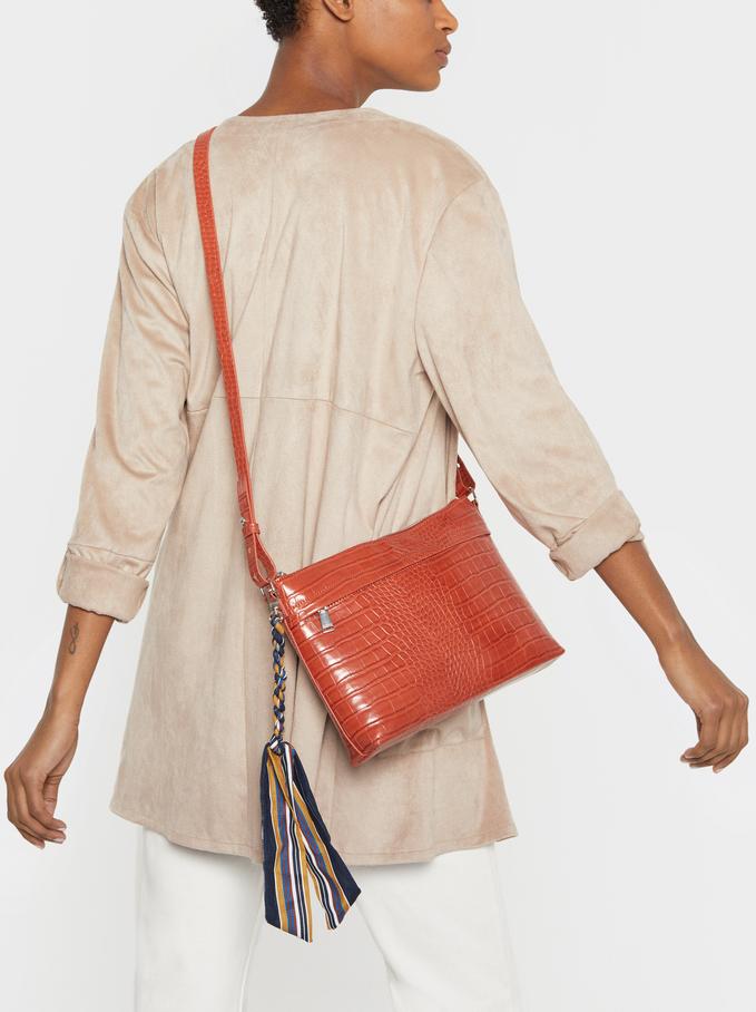 Iguana Handbag, Brick Red, hi-res