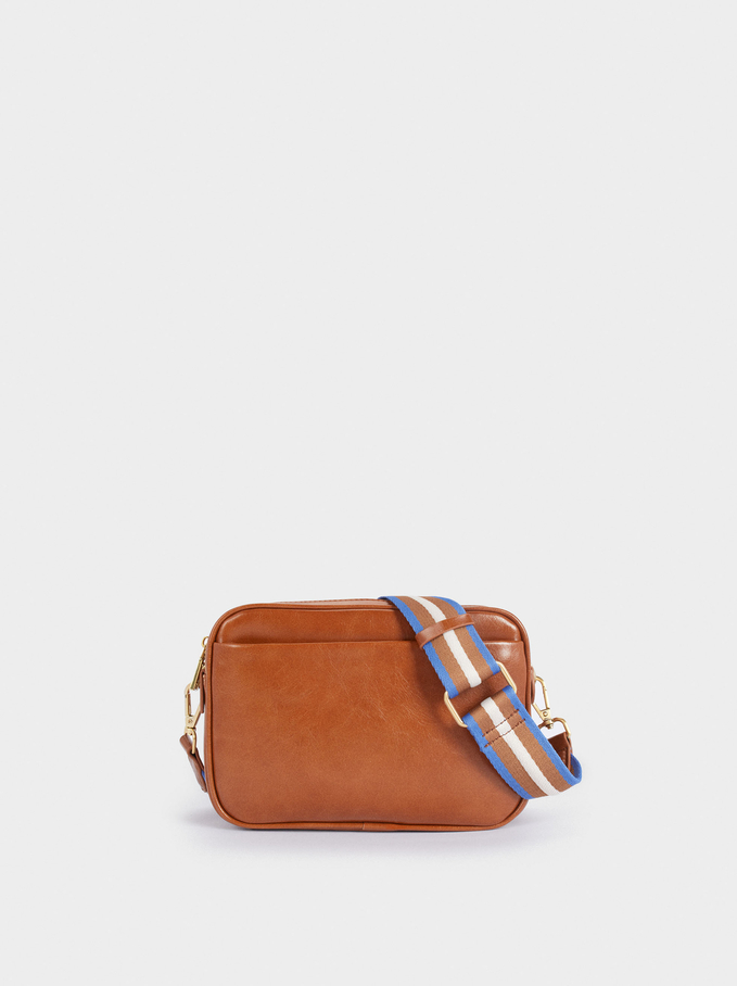 Crossbody Bag With Double Handle, Camel, hi-res