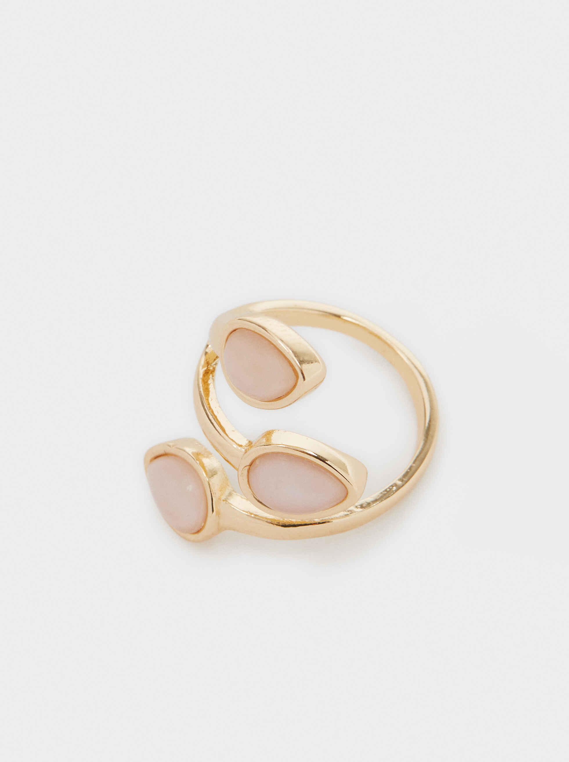 Pink Stones Ring, Blue, hi-res