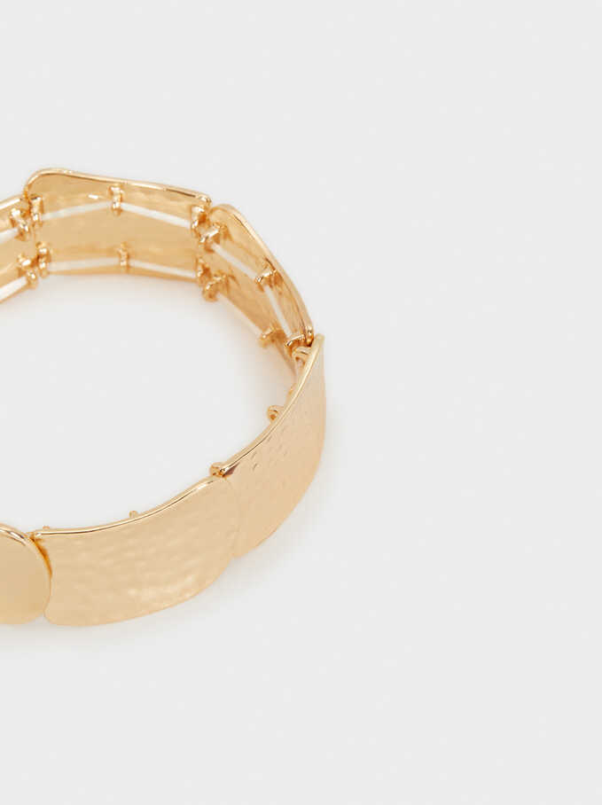 Gold Elastic Bracelet, Golden, hi-res