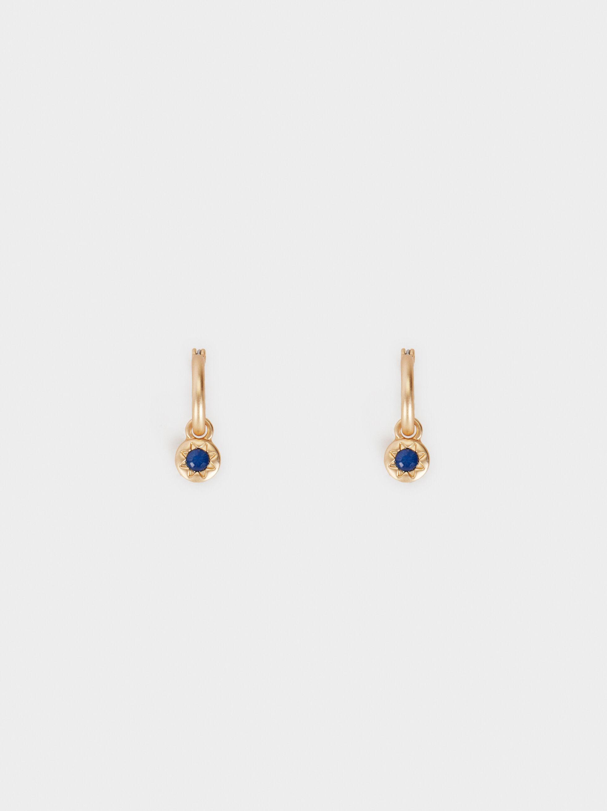 Zorba Small Shiny Hoop Earrings, Multicolor, hi-res