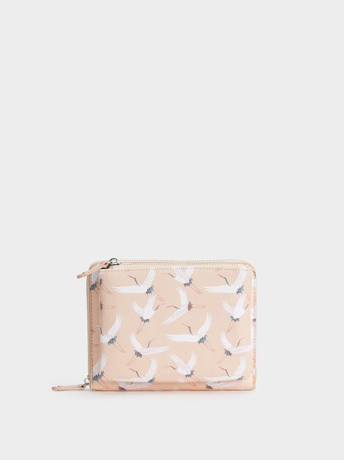 Stork Print Diary, Pink, hi-res