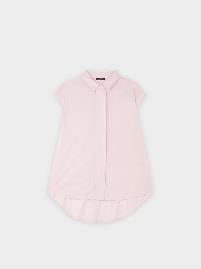 Oversized Sleeveless Shirt, Pink, hi-res