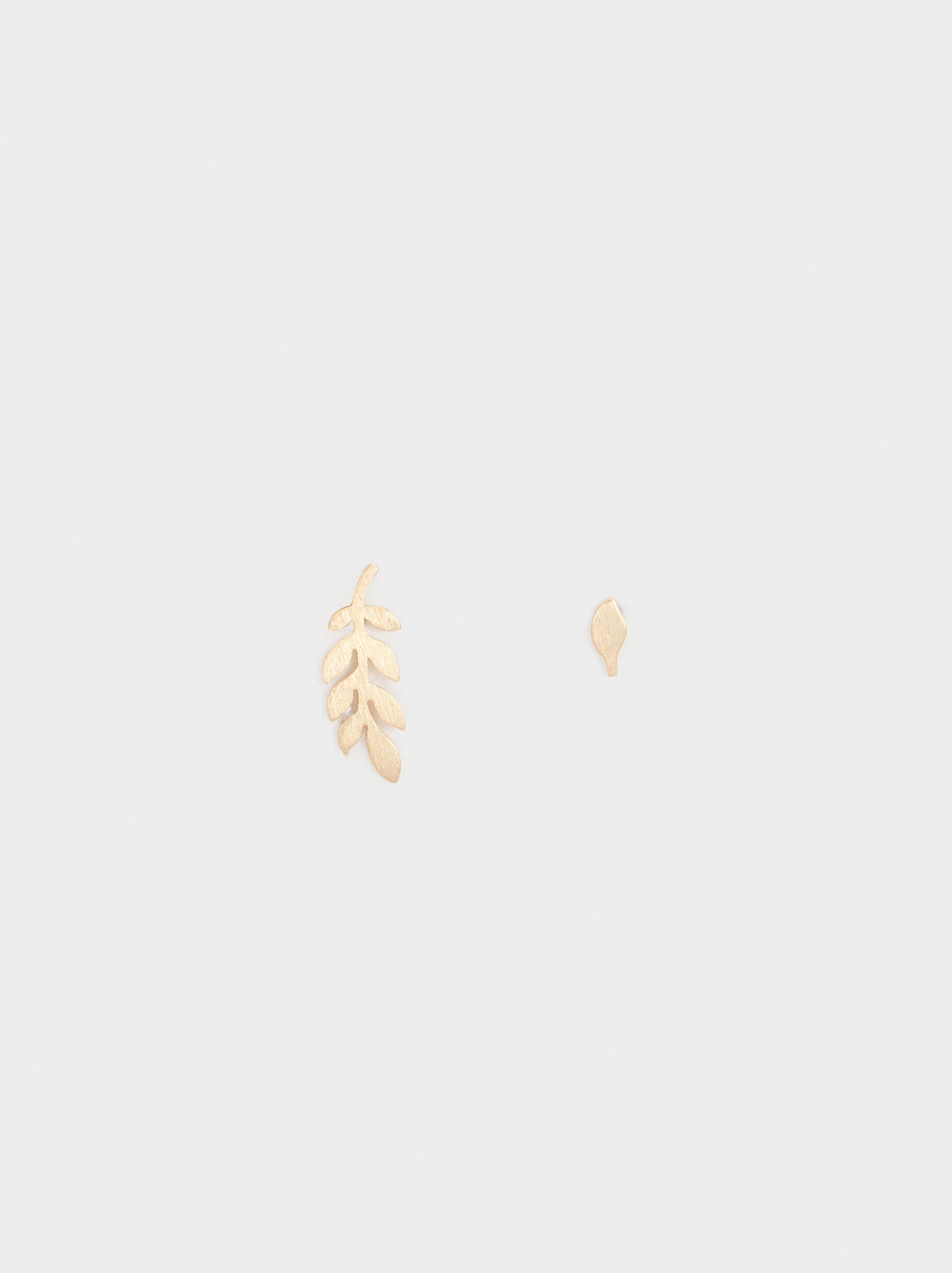 925 Silver Leaf Ear Cuffs, , hi-res