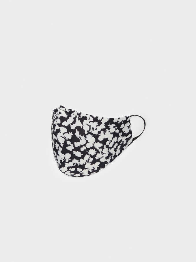 Reusable Printed Mask, Black, hi-res
