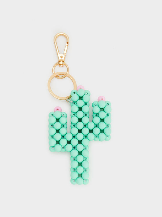 Cactus Key Ring, Green, hi-res