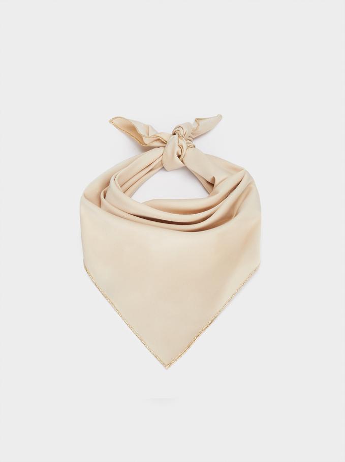 Plain Knot Headband, Beige, hi-res
