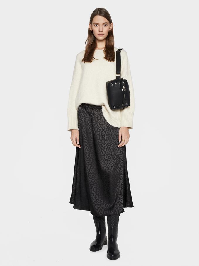 Jacquard Skirt Online Exclusive, Black, hi-res