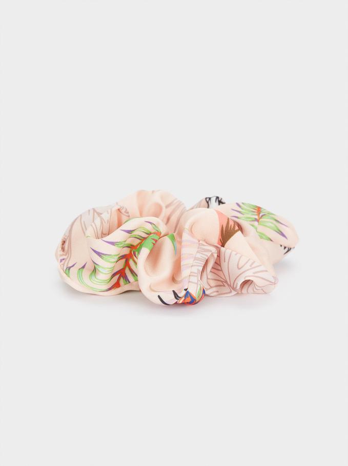Printed Scrunchie, Multicolor, hi-res