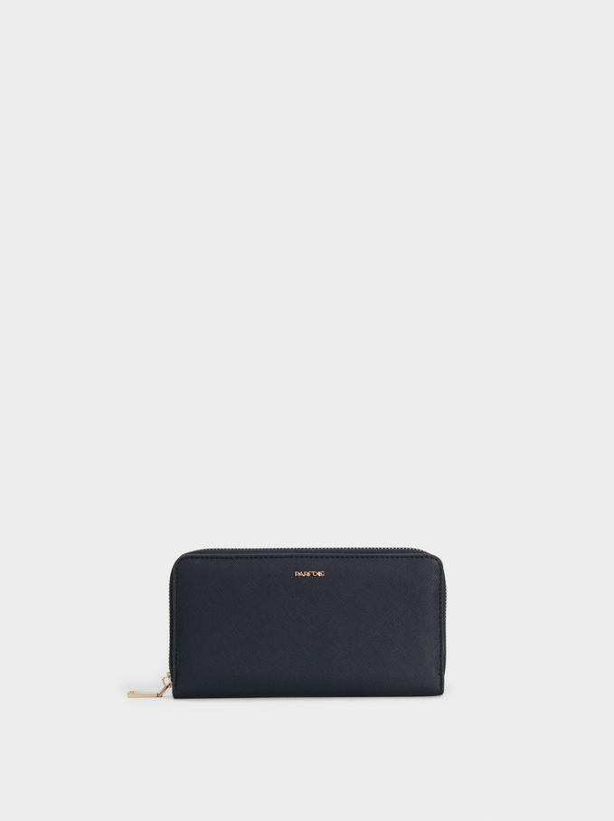 Large Plain Purse, Navy, hi-res