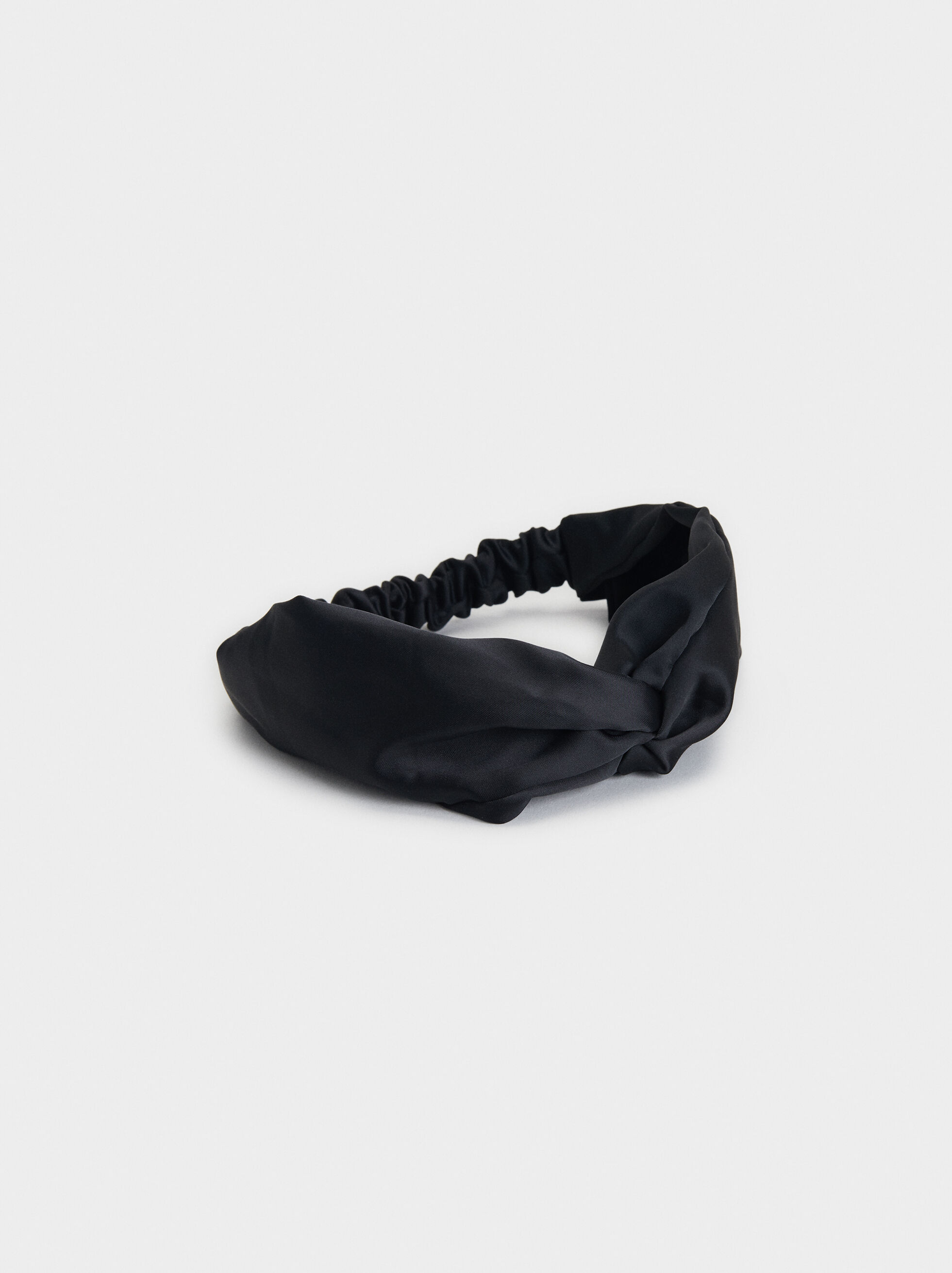 Knot Headband, Black, hi-res