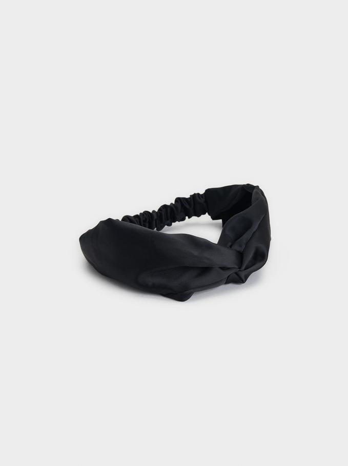Knot Headband, Black, hi-res