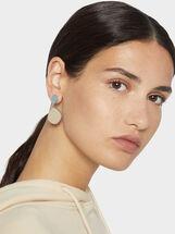 Medium-Sized Two-Tone Magnolia Earrings, Multicolor, hi-res