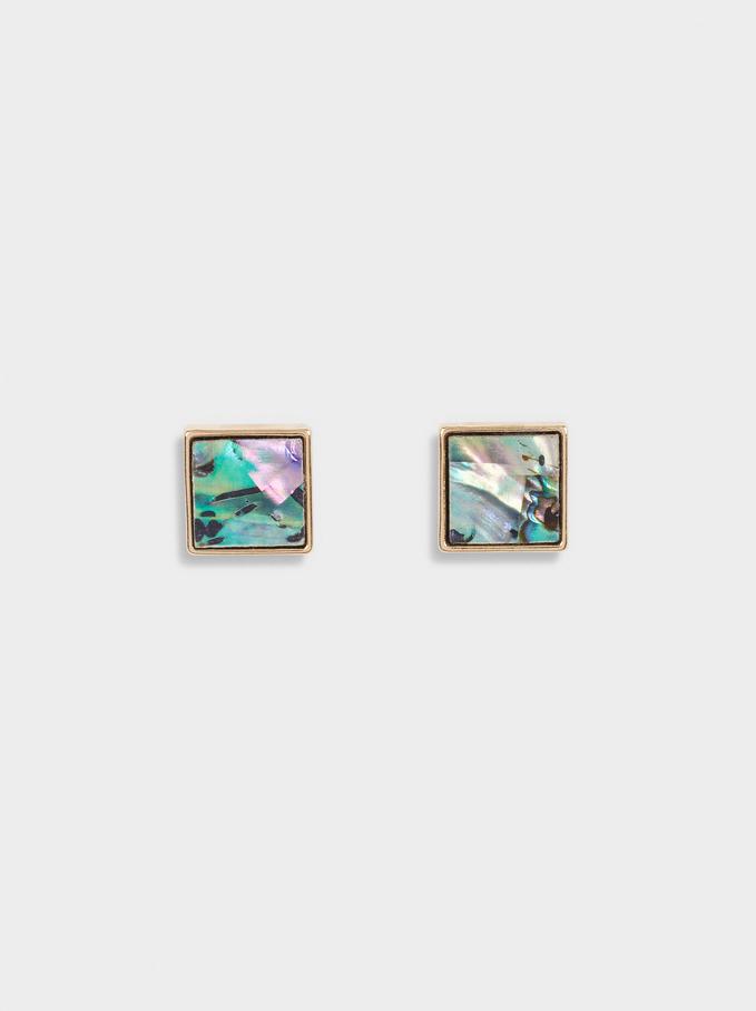 Boucles D'Oreilles Courtes Coquillage, Multicolore, hi-res