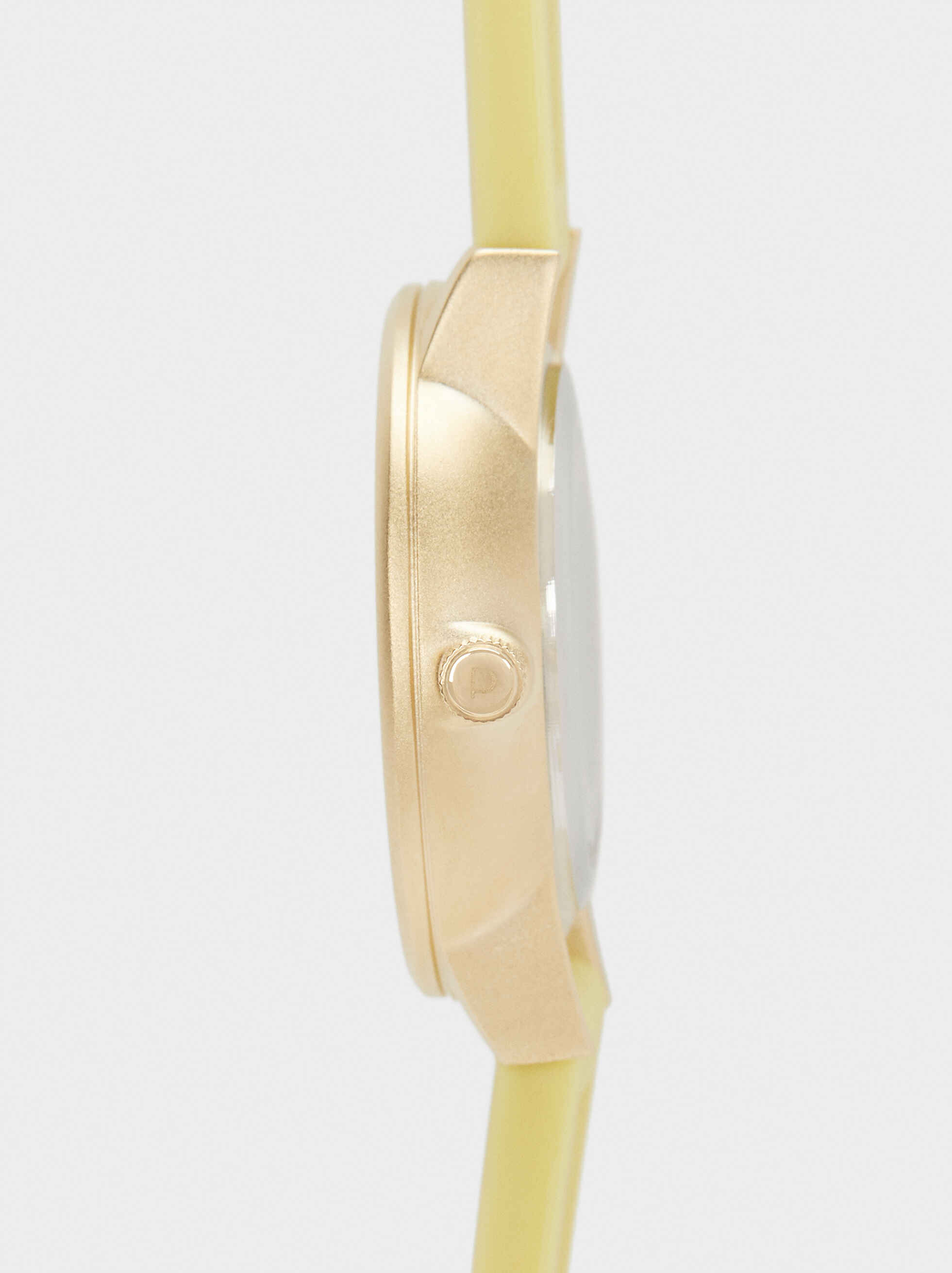 Watch With Matching Silicone Wristband, Yellow, hi-res