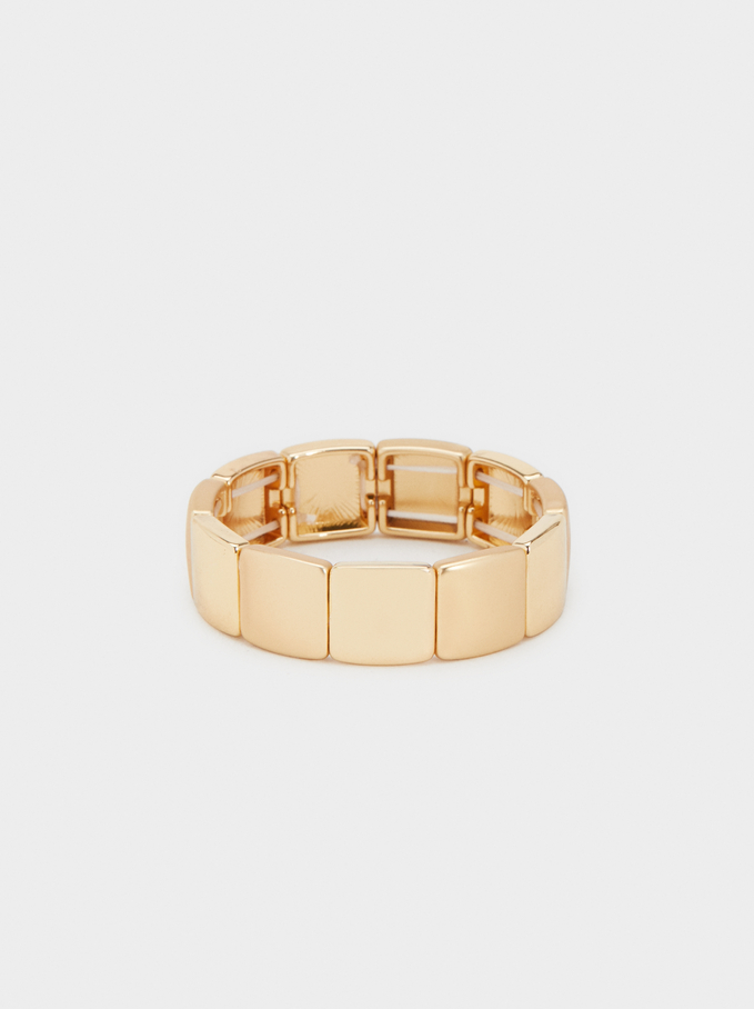Basic Elasticated Bracelet, Golden, hi-res