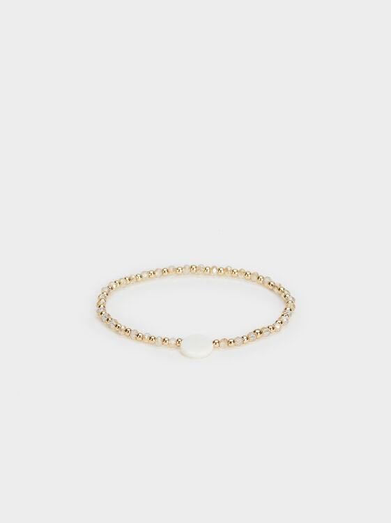 Elasticated Bead Bracelet, , hi-res