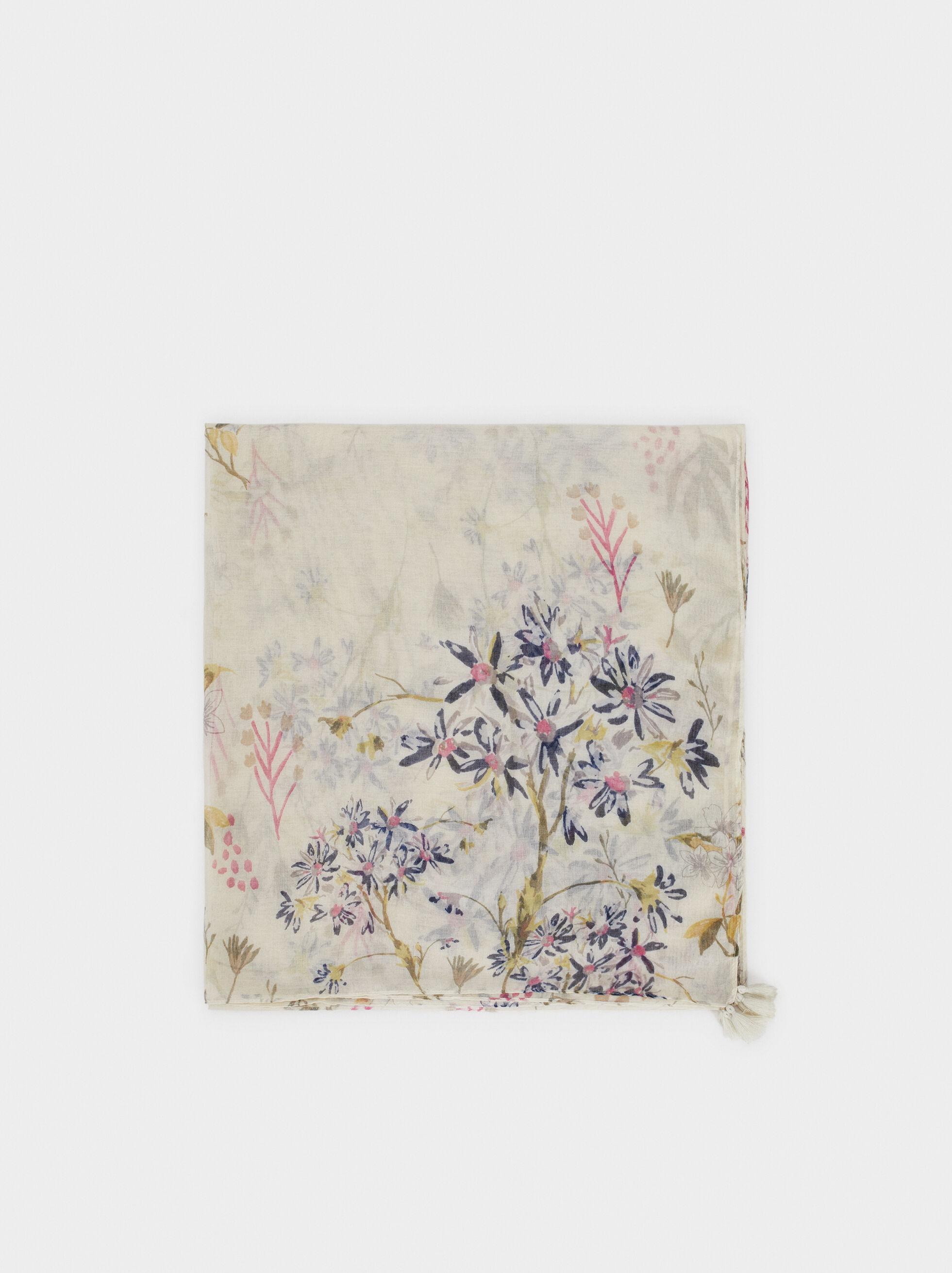 Pañuelo Estampado Floral, , hi-res