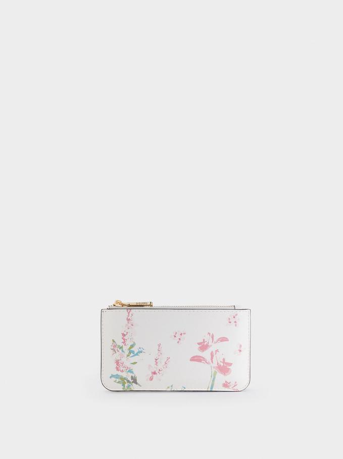 Floral Print Multi-Purpose Bag, Ecru, hi-res