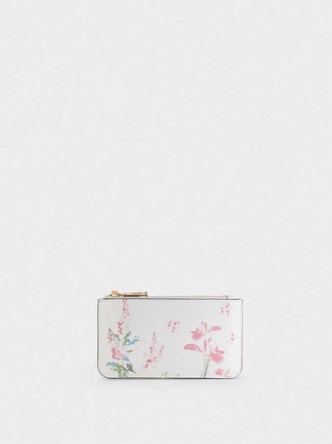 Bolso Multiusos Con Estampado Floral, Crudo, hi-res