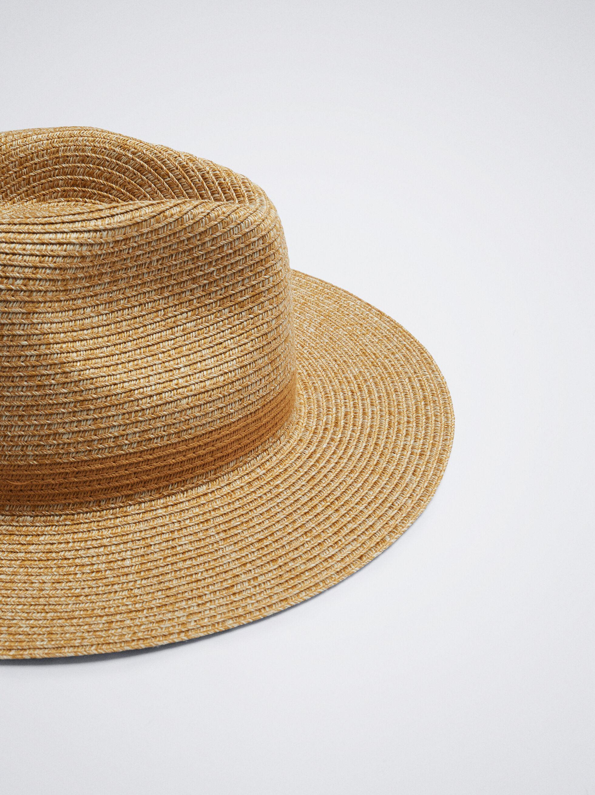 Sombrero Textura Rafia, Camel, hi-res